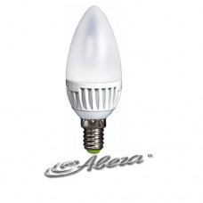 Лампа светодиодная e.save.LED.C37M.E14.4.2700 тип свеча, 4Вт, 2700К, Е14 (ал)